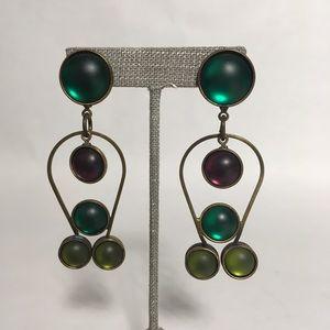 Jewelry - Artful brass earrings